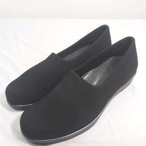 SAS Womens Black Fabric Slip on Loafers Comfort 10